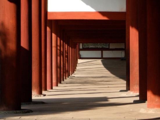 Temple pillars, Kyoto, Japan