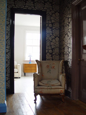 antique armchair in cream