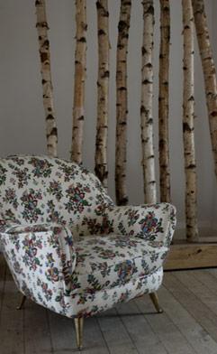 chair vintage floral