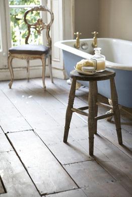 bathroom french blue