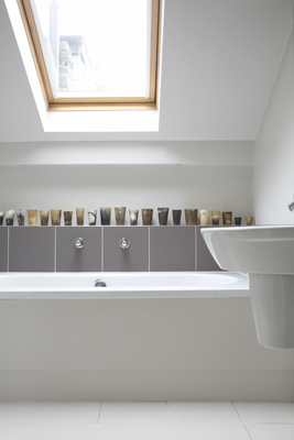 bathroom white and natural