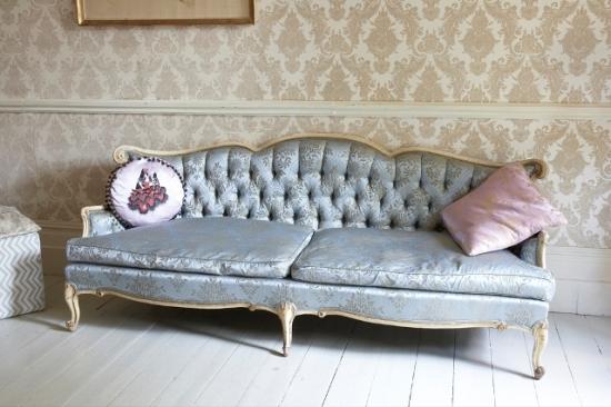 French silk sofa