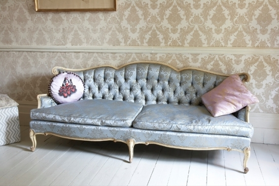 French silk sofa