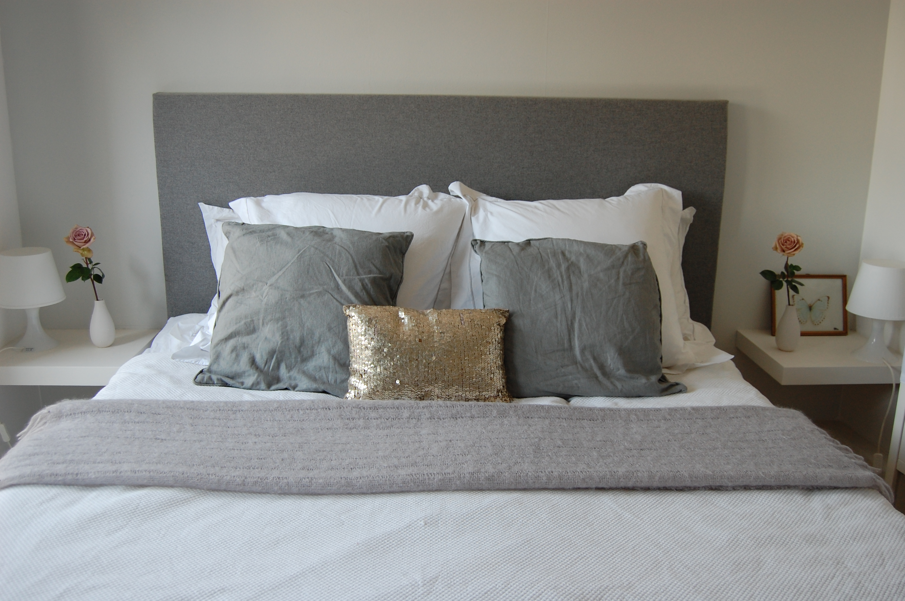 How to make a headboard emily wheeler for Makeshift headboard