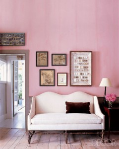 pink living room